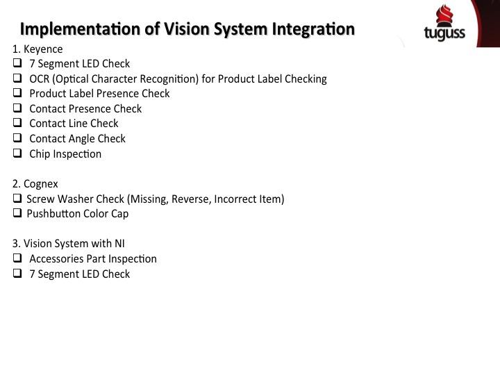 Vision Inspection Tuguss vendor | PT Tugu Sena Sinergi